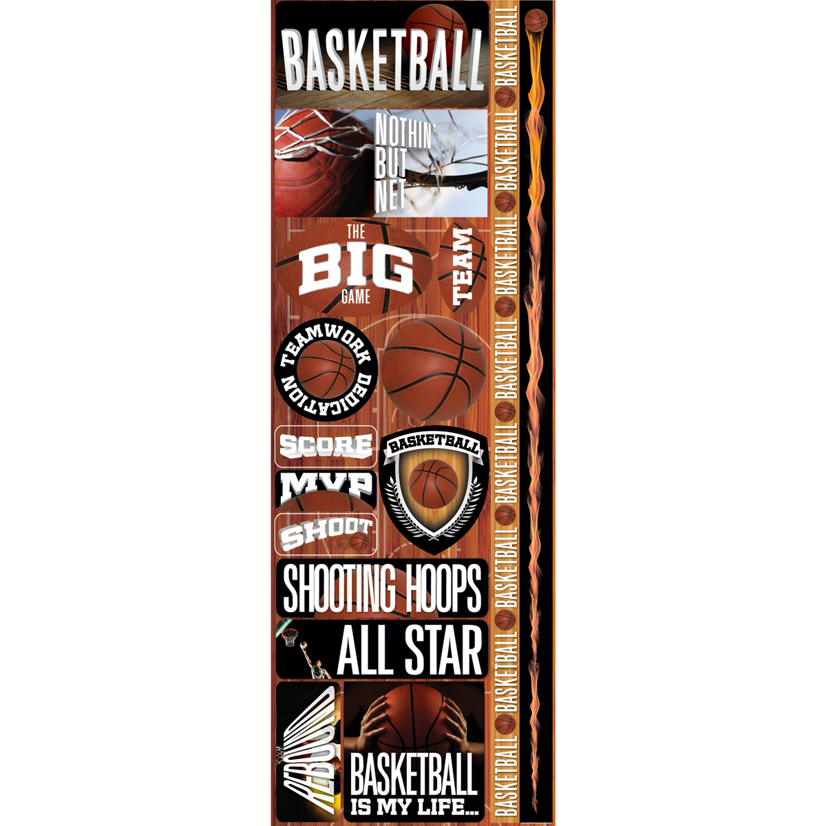 Basket Com-real Sport Stickers