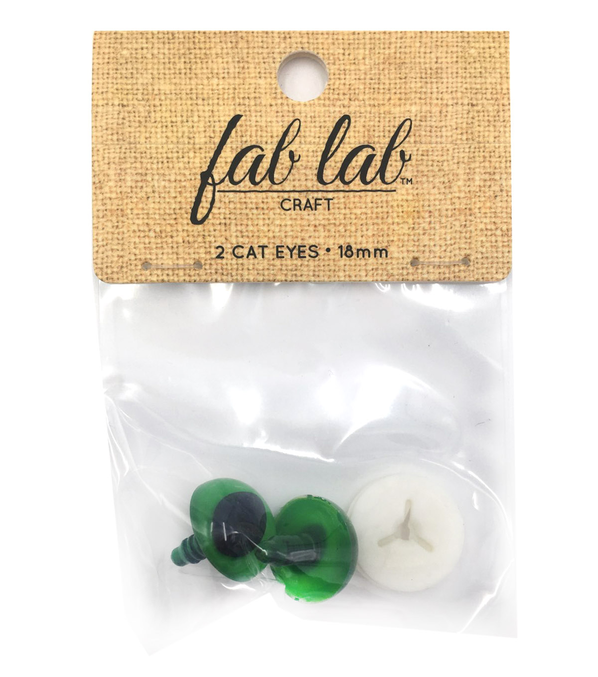 Cat Eyes 18mm - Green 2/pk