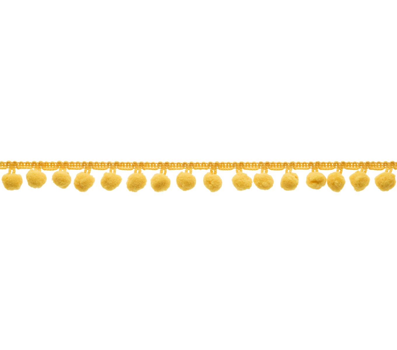 Customisable Pick Stitch Quilt with Pom Poms Golden Yellow Velvet Quilt