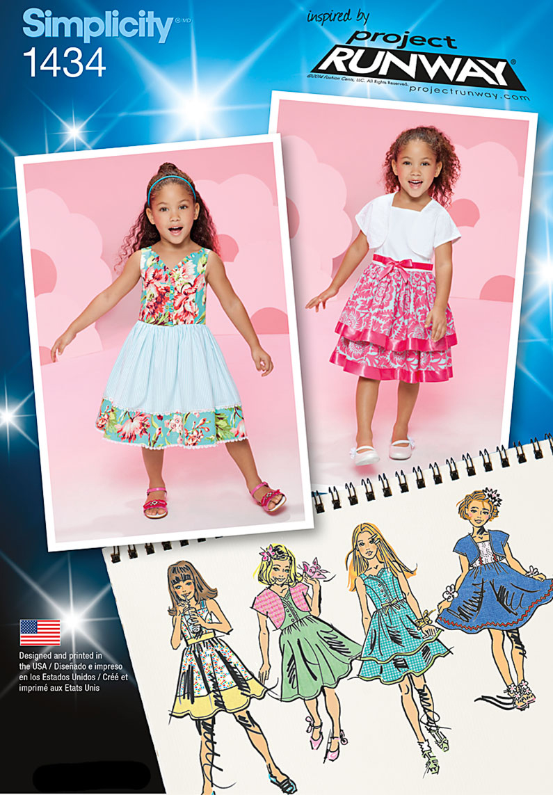 Simplicity Pattern 1434A 3-4-5-6-7--Child Dresses