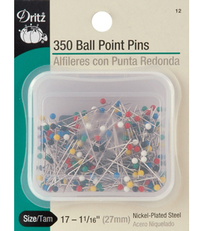 Dritz Color Ball Point Pins Size 17 350 count Multipack of 12