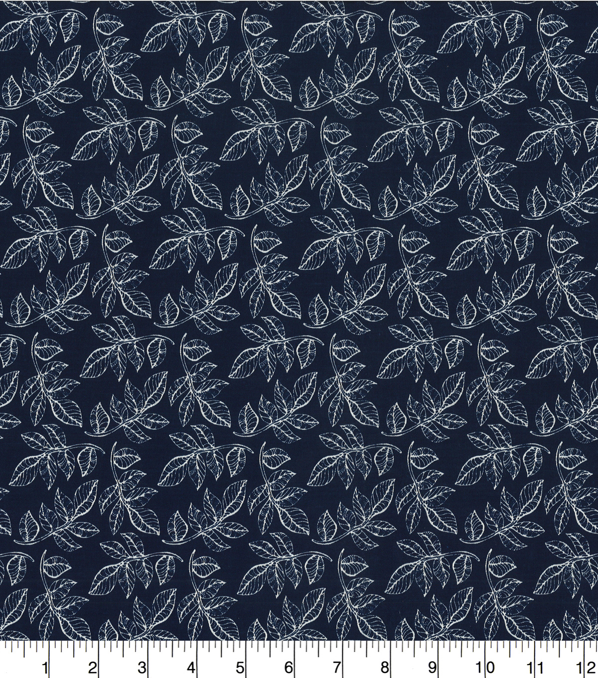 Quilter\u0027s Showcase Cotton Fabric -Navy Leaf