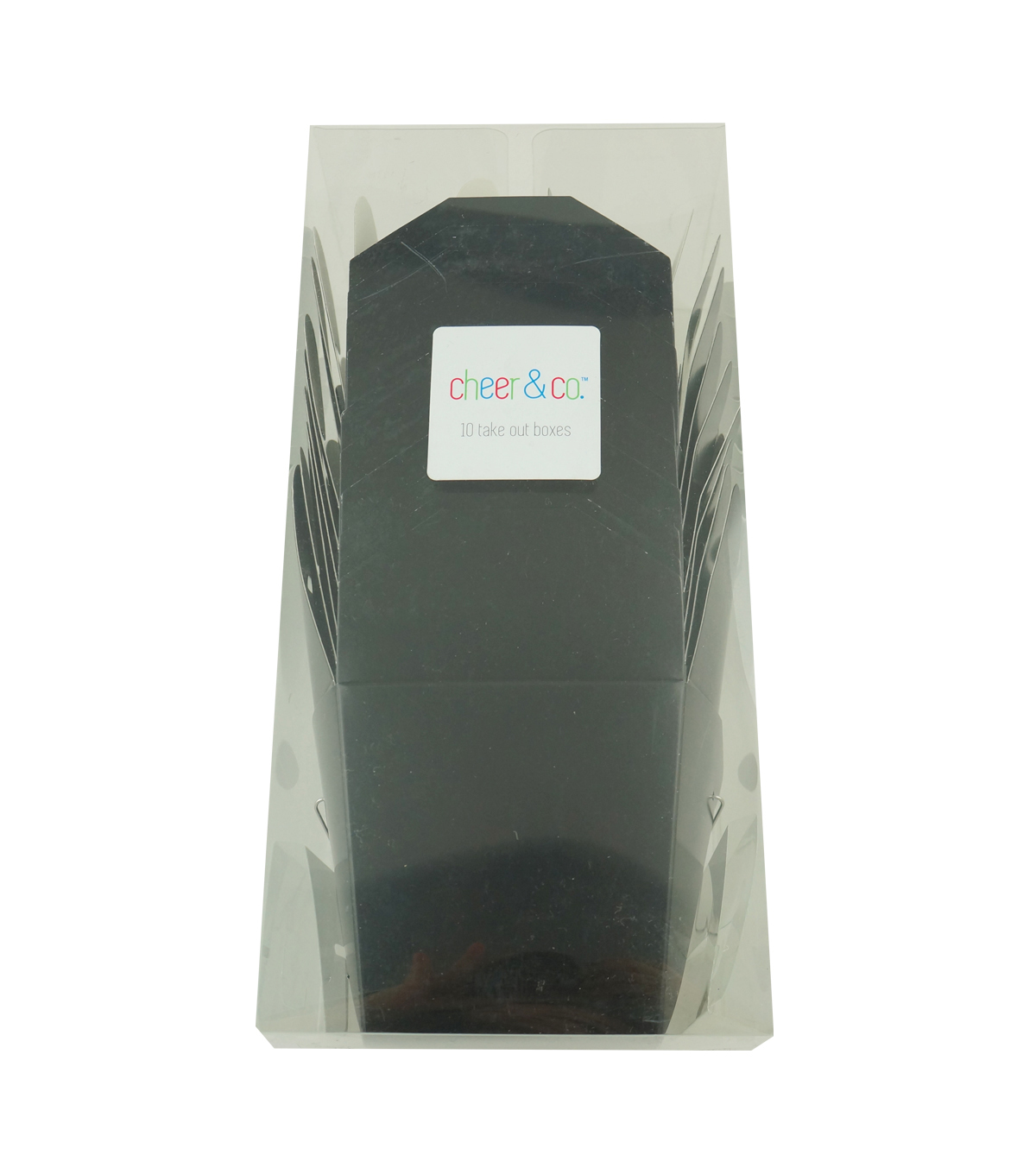 Cheer & Co 10ct Take Out Boxes-Black