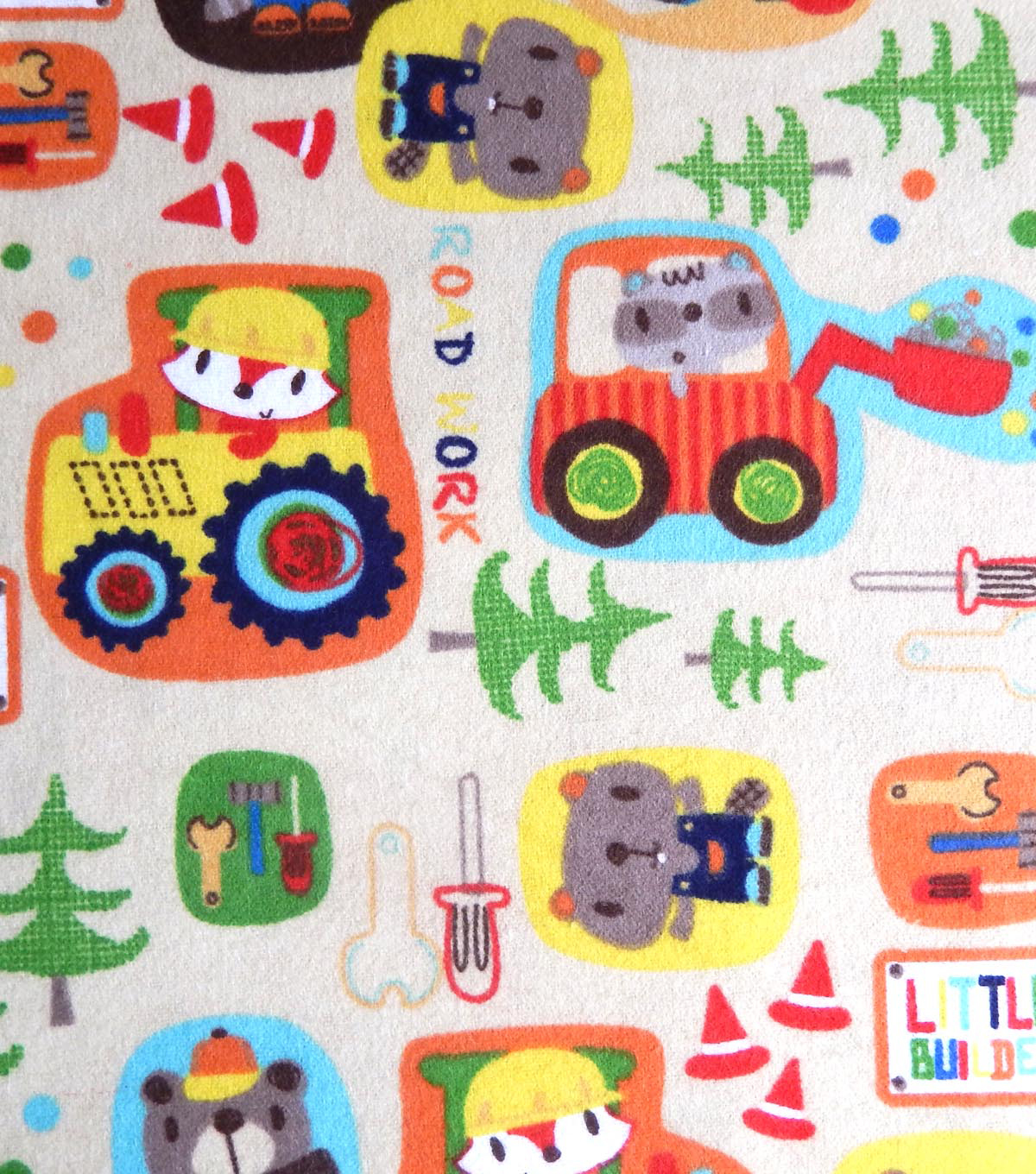 Snuggle Flannel Fabric -Little Builders