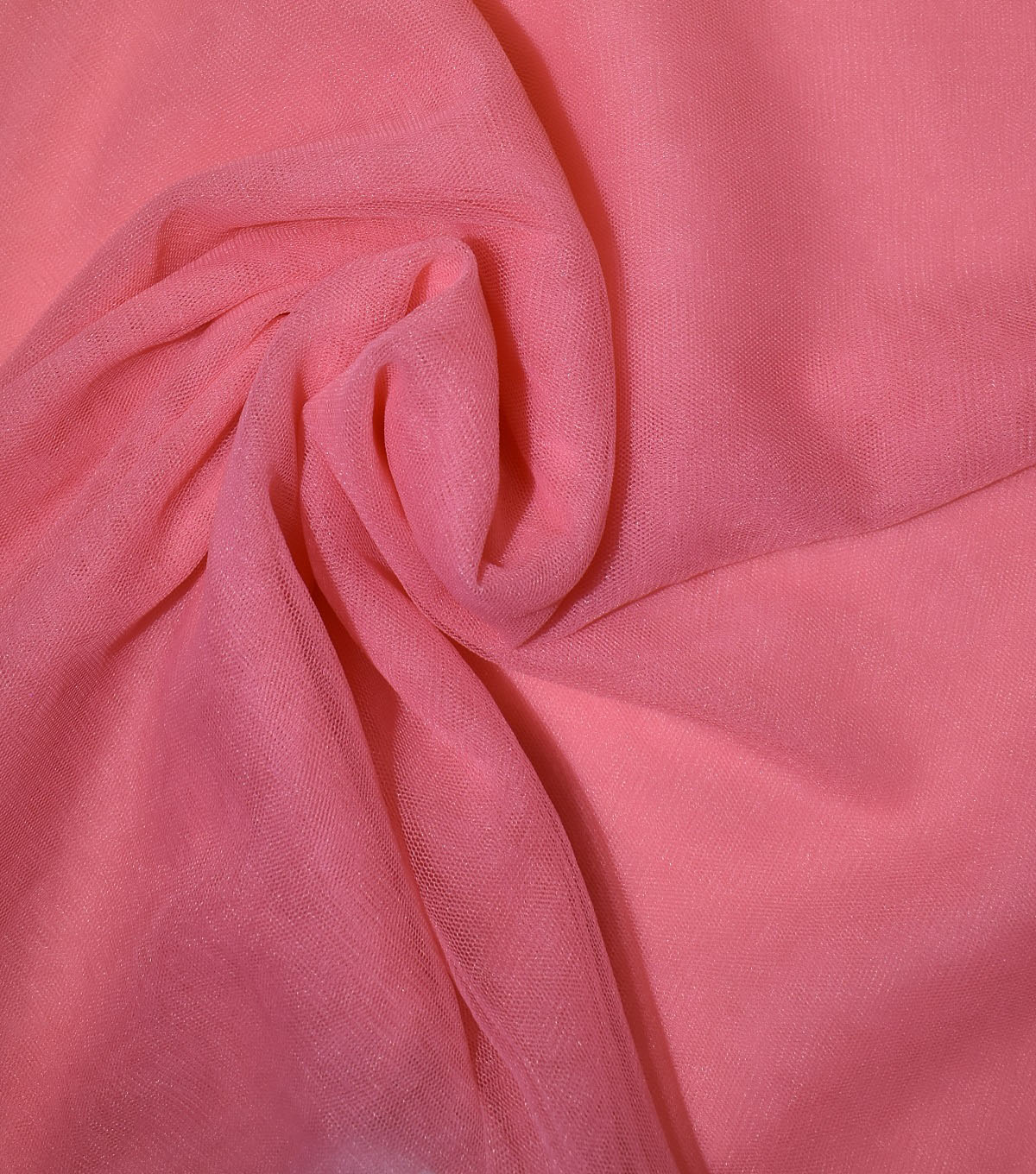 Casa Collection Solid Tulle Fabric 57\u0027\u0027, Shell Pink