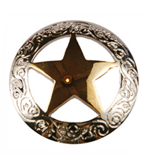 Engraved Star Concho