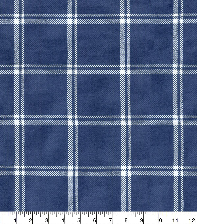Waverly Upholstery Fabric 54 Marine Bloomsbury Plaid Joann