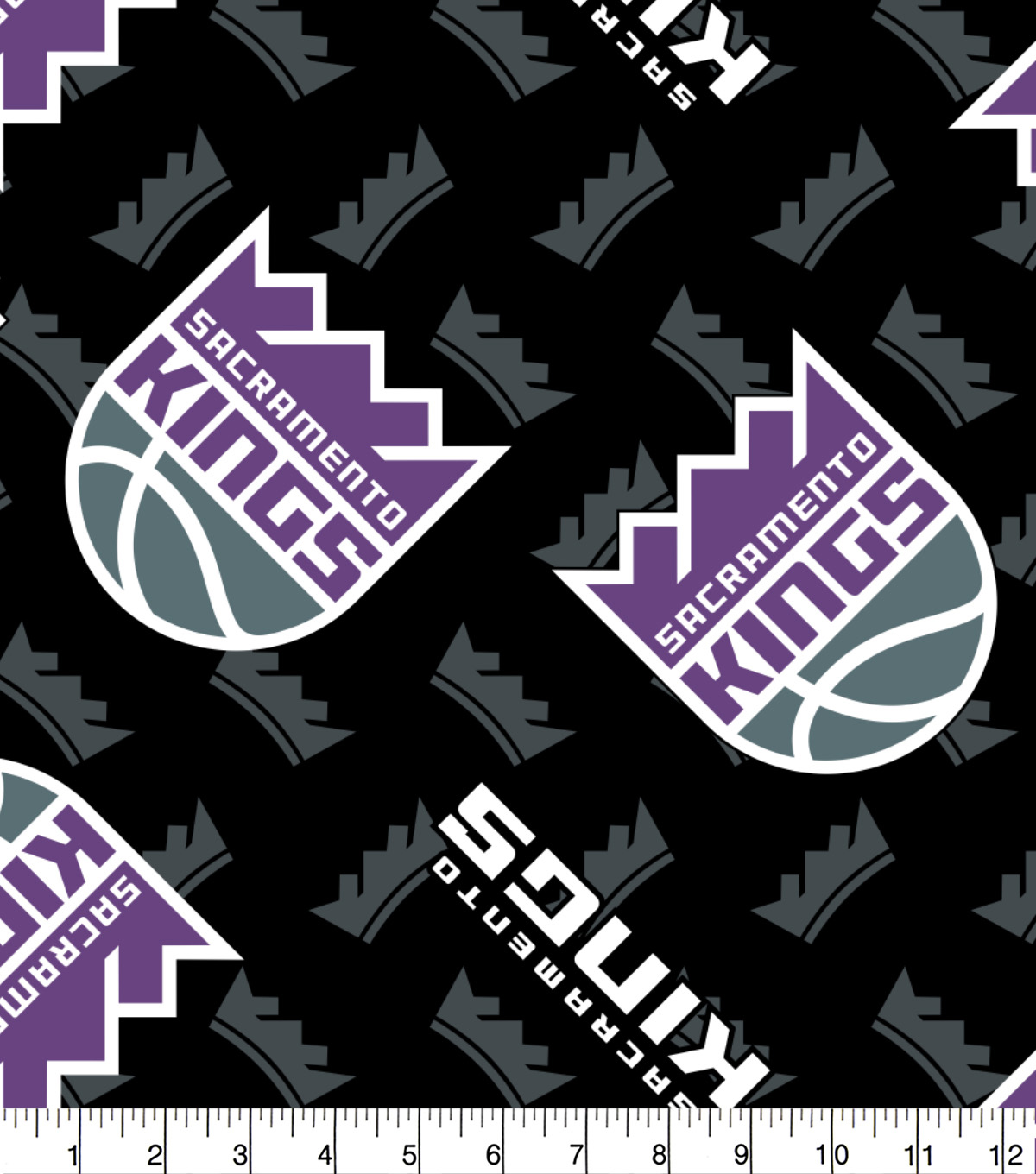 Sacramento Kings Fleece Fabric -Logo Toss