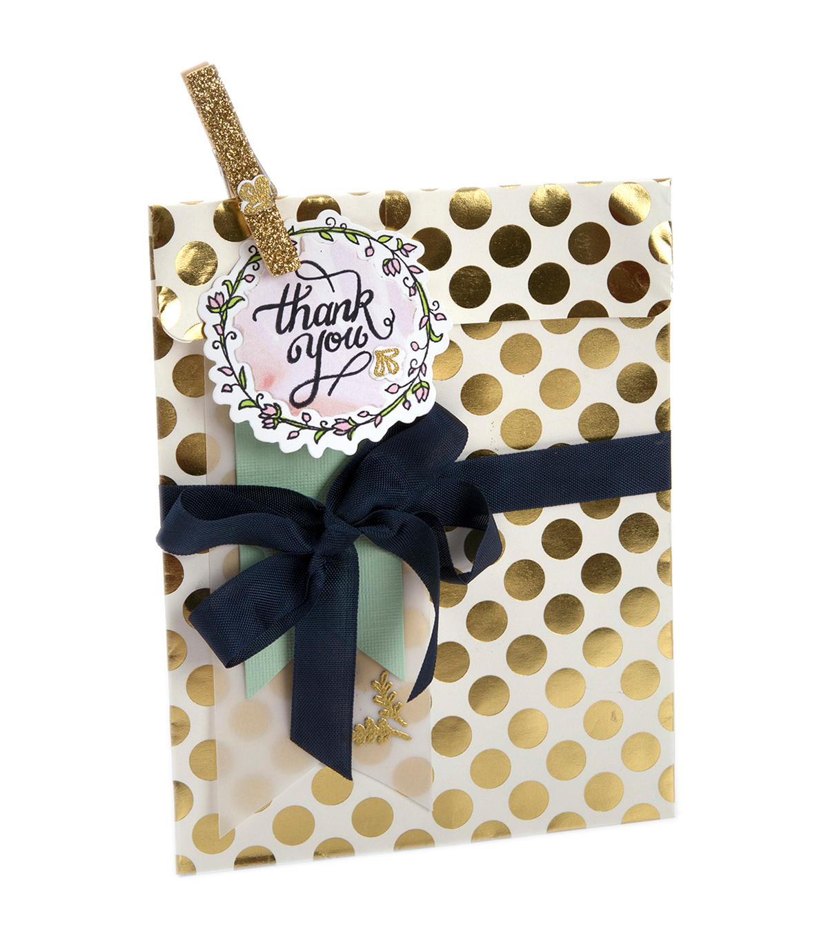 Sizzix Framelits Dies with Stamps-Thank You #2