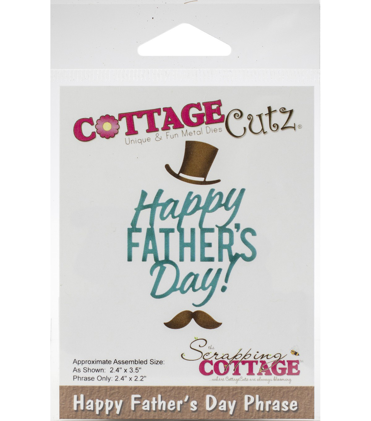 CottageCutz Die-Happy Father\u0027s Day Phrase 2.2\u0022 To 3.5\u0022