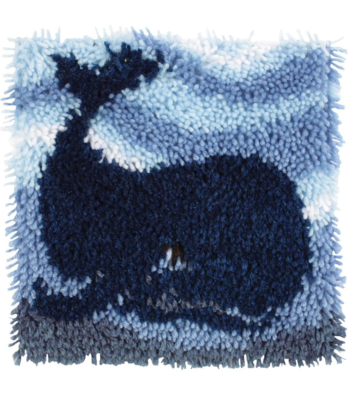 Wonderart Latch Hook Kit 12x12 Big Blue Whale Joann