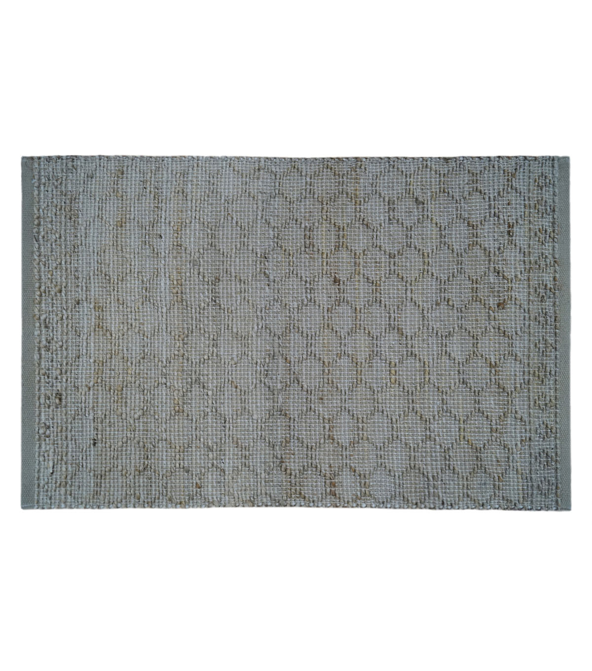 Hudson 43 Pure Jute Rug-Tan Diamond Texture