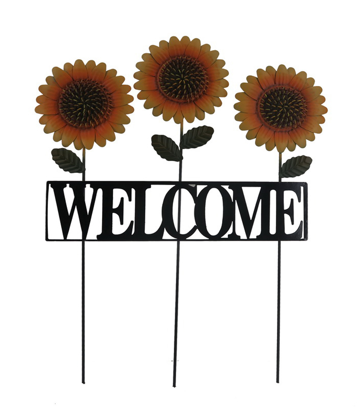 Simply Autumn Welcome Sunflower Yard Stake