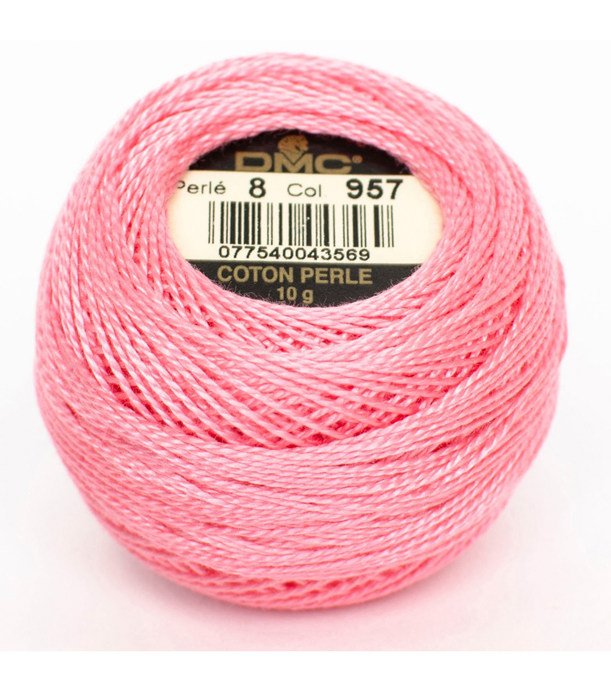 DMC Pearl Cotton Balls Thread 87 Yds Size 8, Pale Geranium
