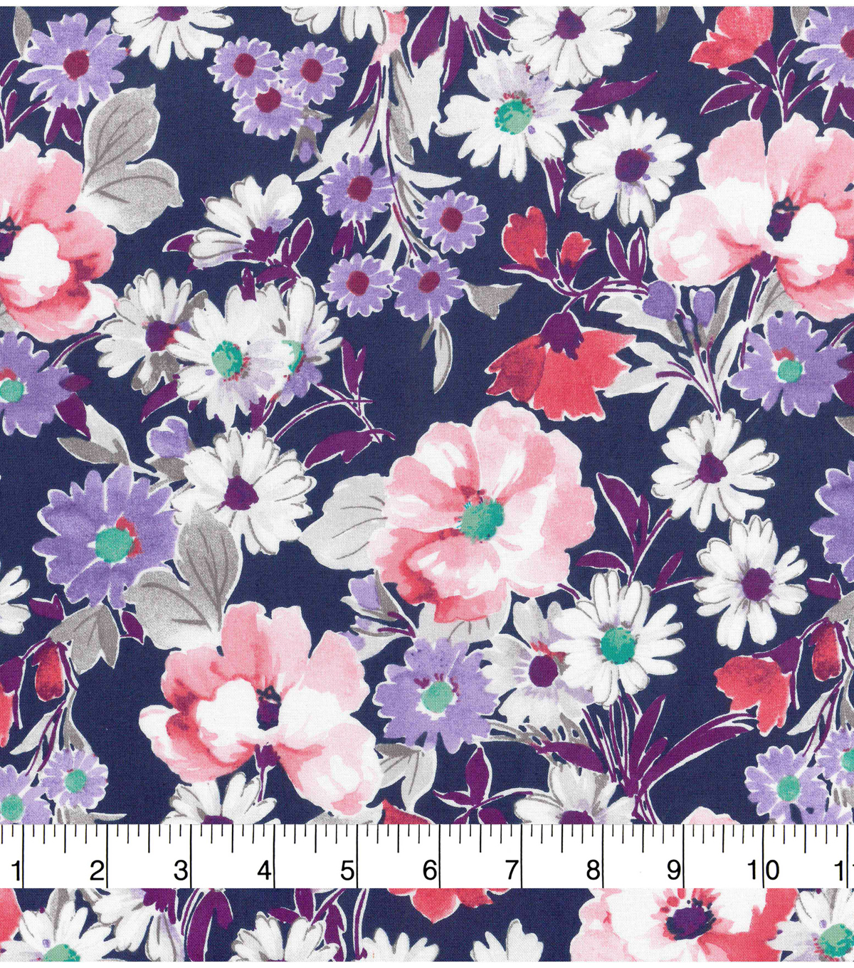 Pink Floral Fabric by the Yard. Watercolor Florals Girl