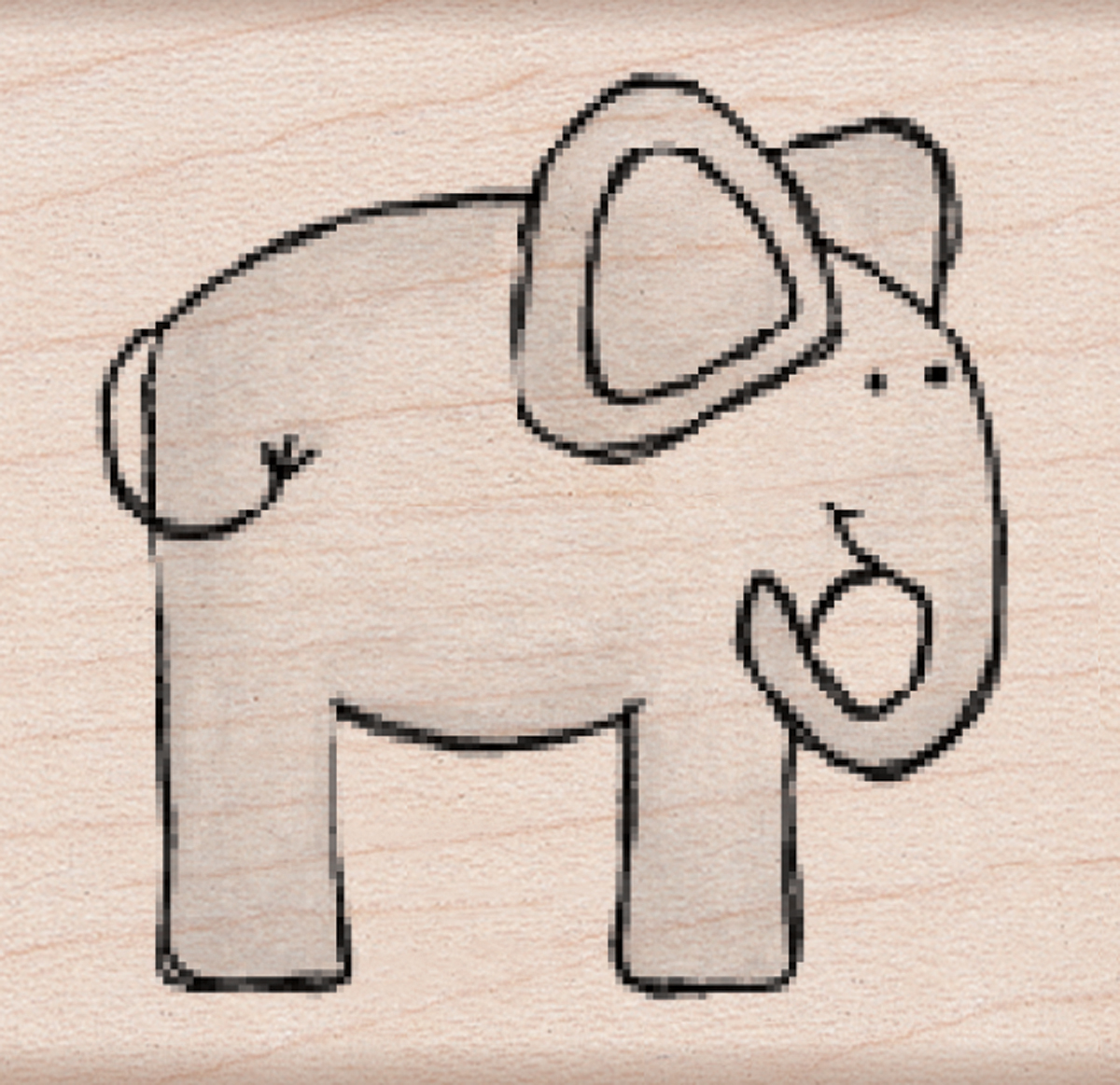 Hero Arts Wood Mounted Rubber Stamp-Playful Elephant