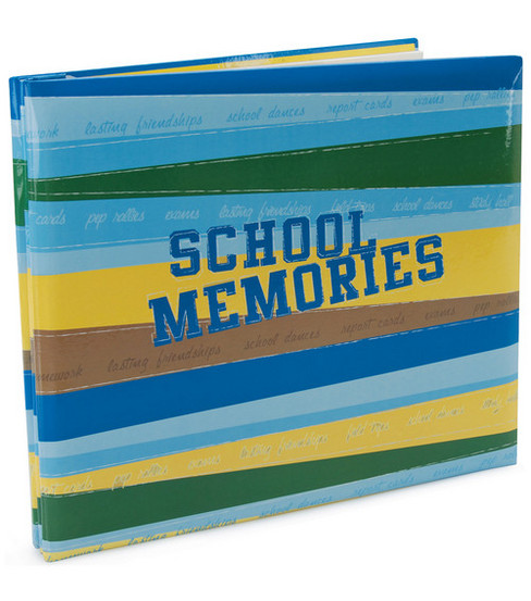 MBI School Memories Post Bound Album 12\u0022X12\u0022-Multi Color