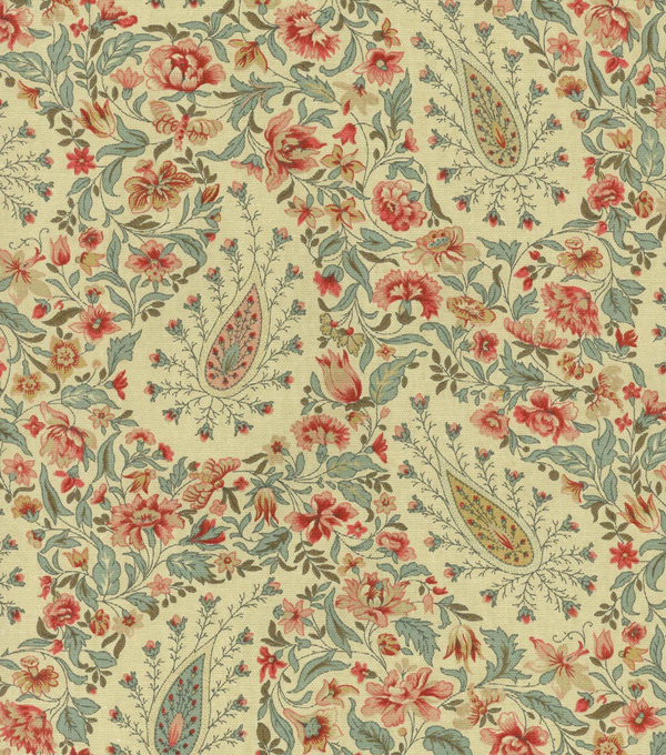 Waverly Upholstery Fabric 54\u0022-Paisley Verveine/Bayberry