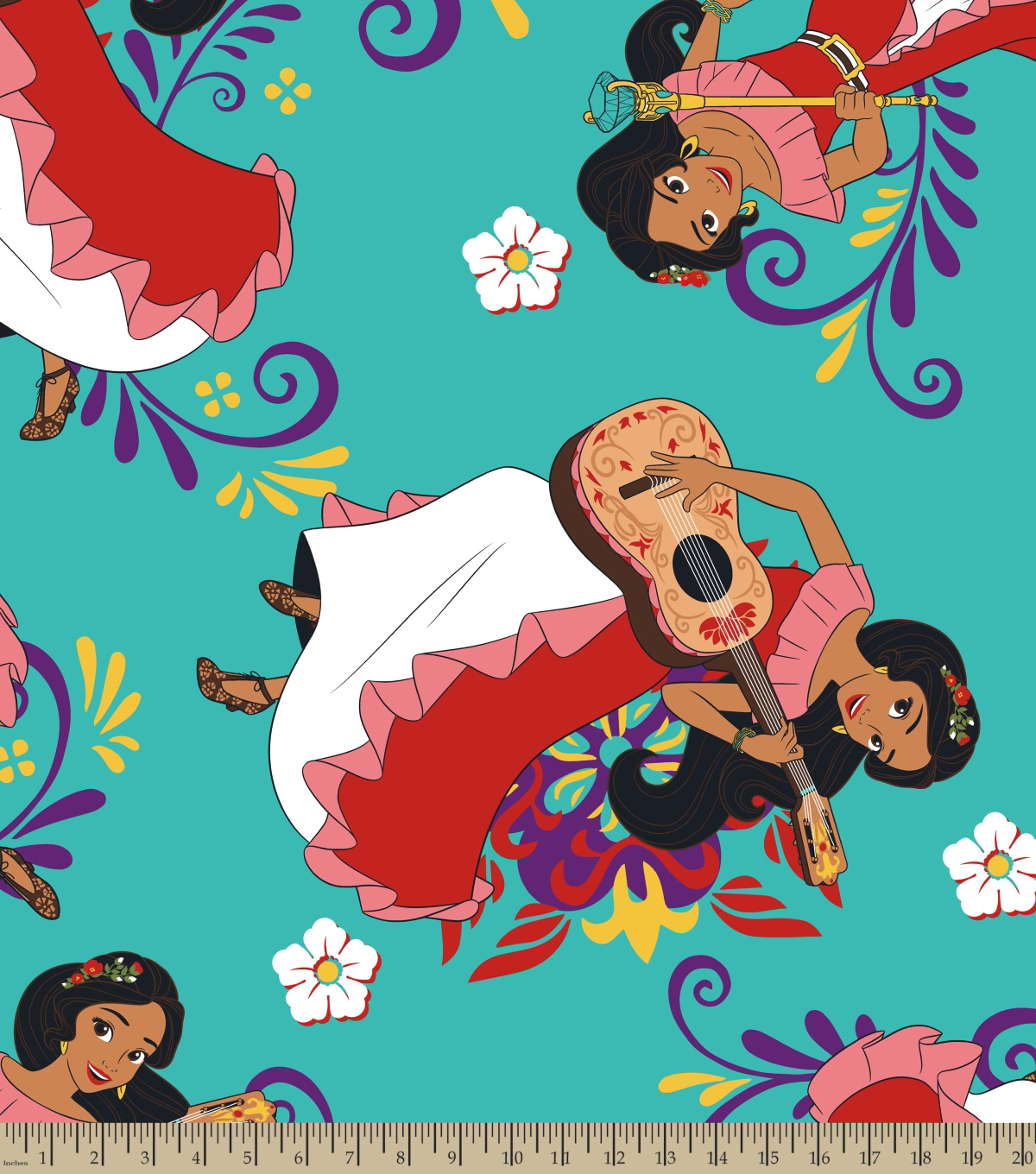 Disney Elena of Avalor Fleece Fabric 59\u0022-Make Magic