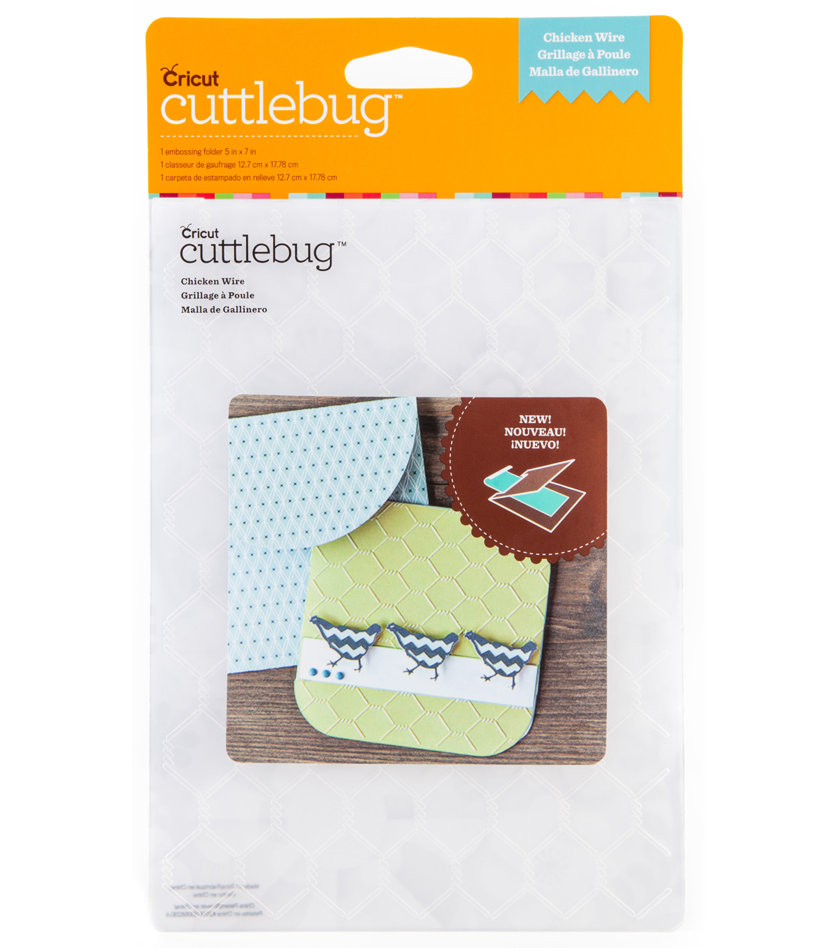 Cuttlebug Emboss 5x7 Chicken Wire