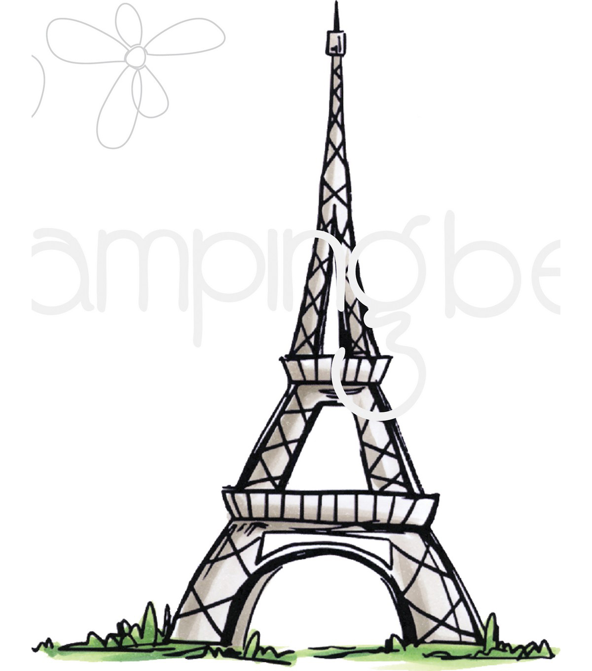 Stamping Bella Cling Stamps-Rosie And Bernie\u0027s Eiffel Tower
