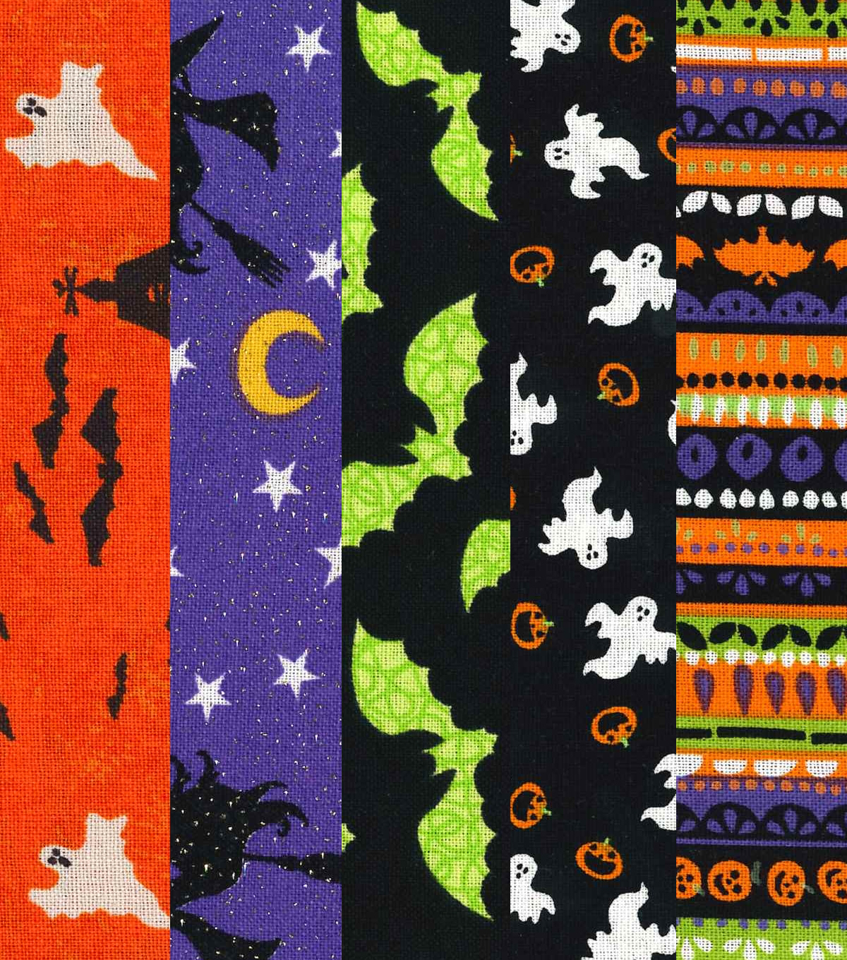 Pre-Cut Quilt Fabrics 5.5\u0022-Halloween Bundle 2