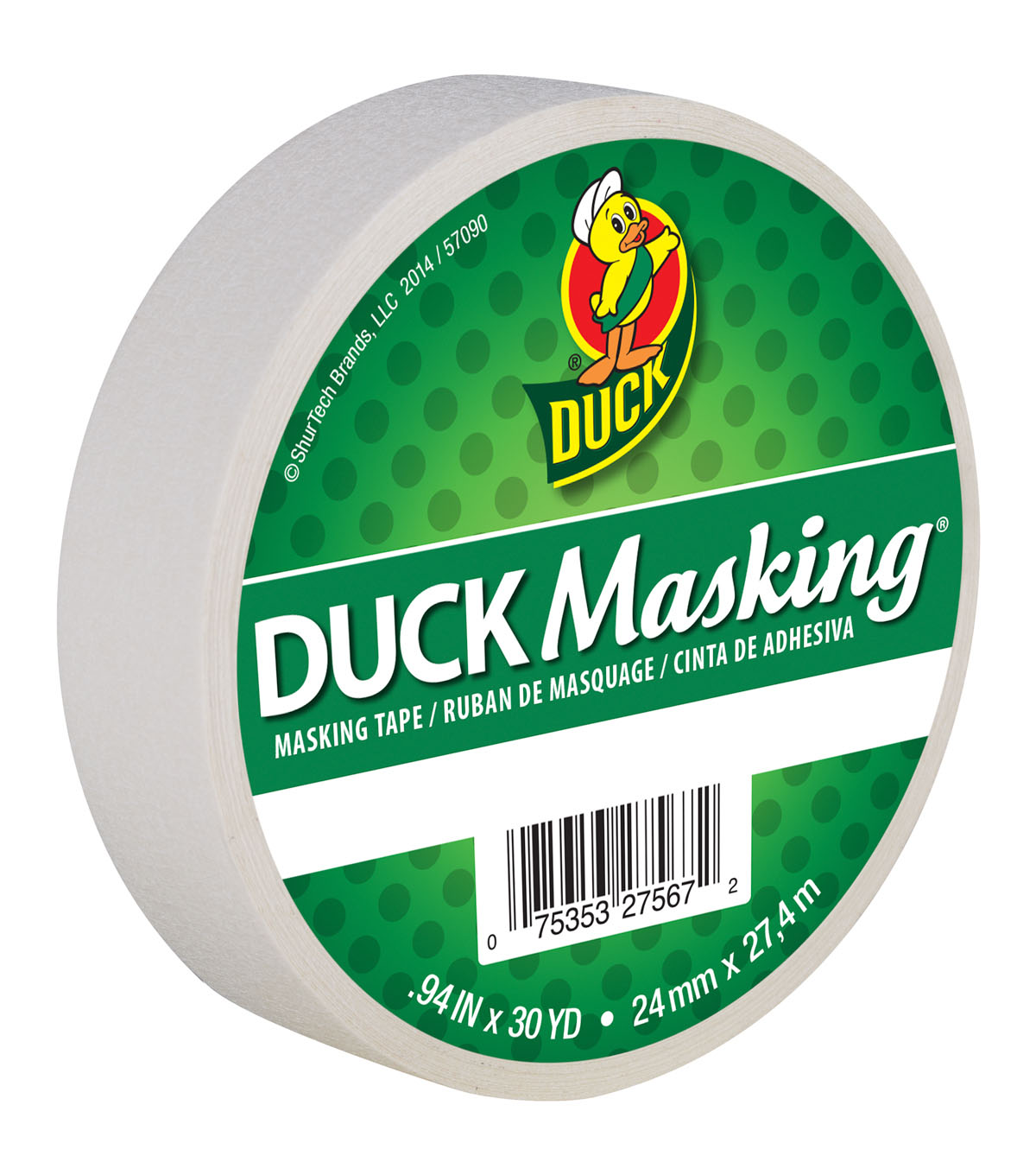 Duck Masking Tape .94\u0022x30yd-White