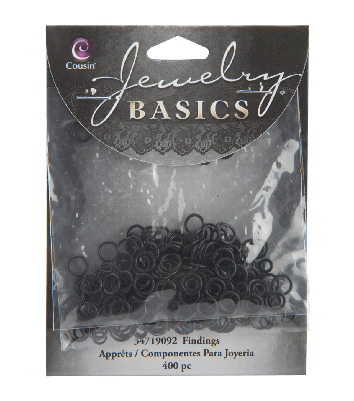 Jewelry Basics 4mm/6mm Jump Rings 400/Pk-Black
