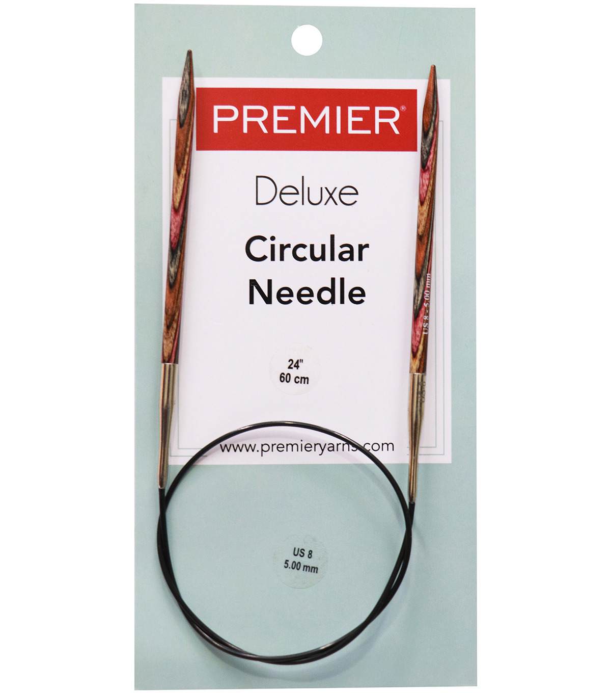 Premier Yarns Fixed Circular Needles 24\u0027\u0027 Size 8/5.0mm