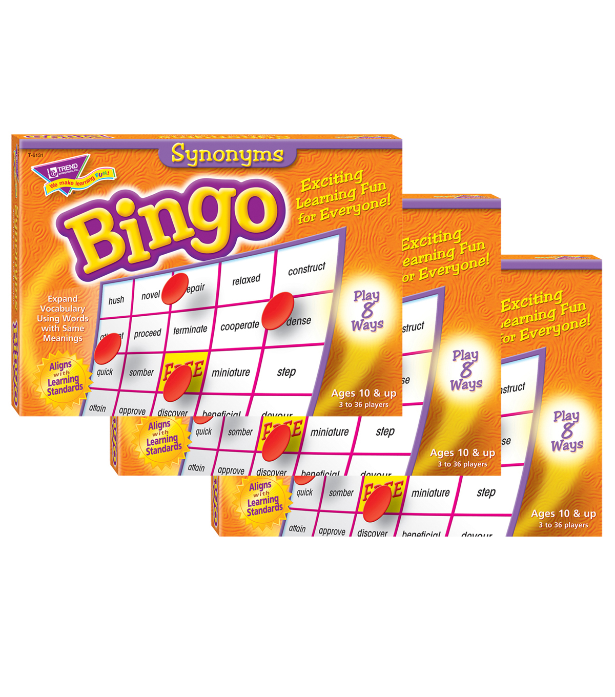 TREND enterprises, Inc. Synonyms Bingo Game, Pack of 3