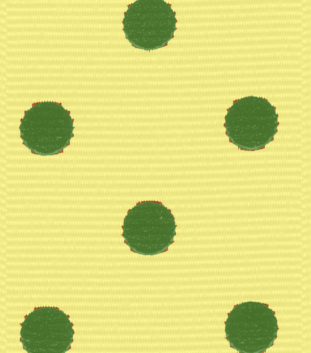 Offray Grosgrain Ribbon 1.5\u0027\u0027x9\u0027\u0027-Green Dippy Dots on Yellow