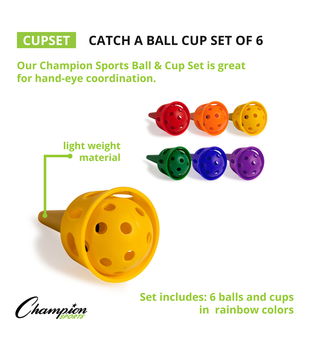 Champion Catch-A-Ball Cup Set of 6