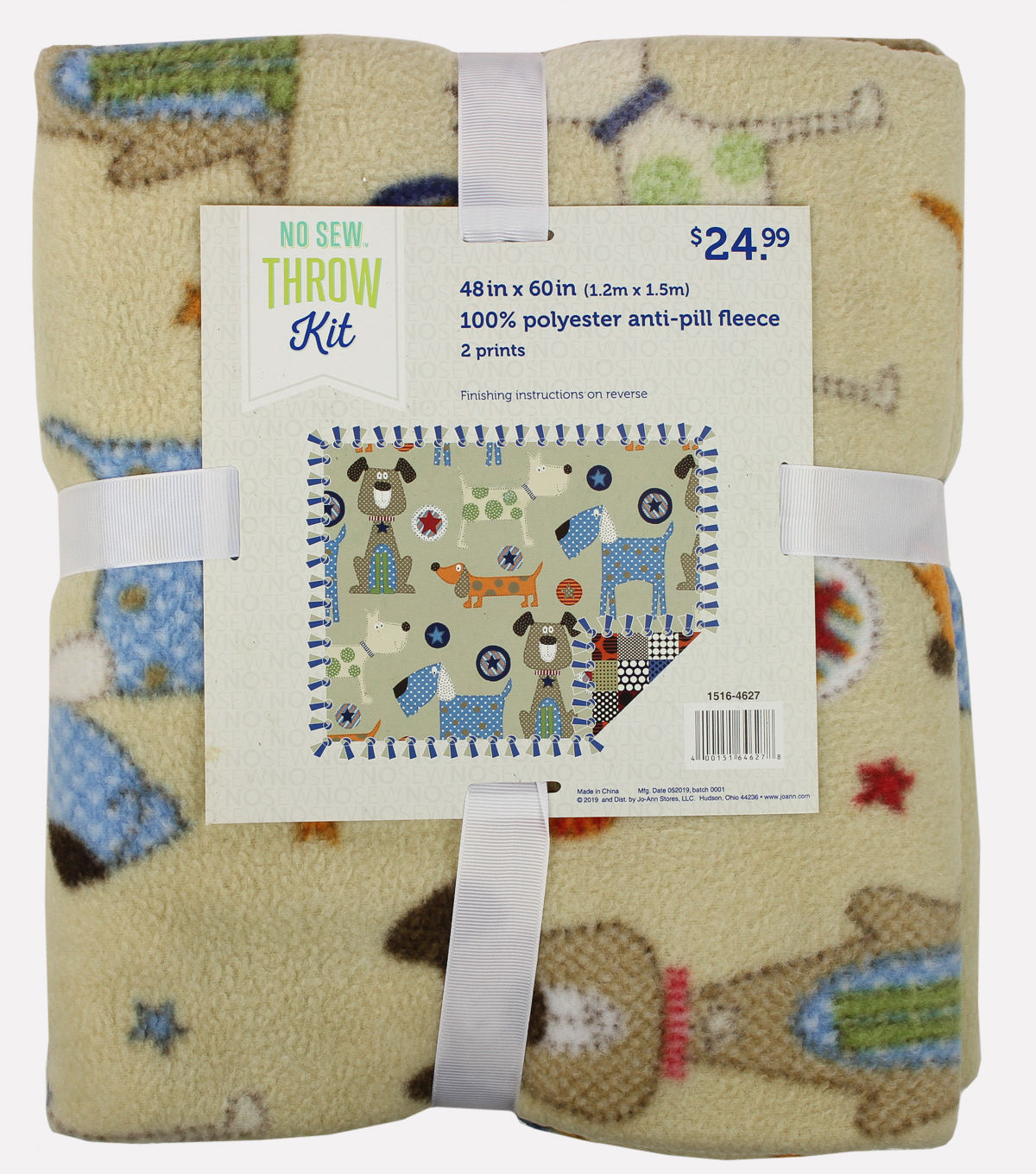 No-Sew Fleece Fabric 48\u0022-Spotty Dog