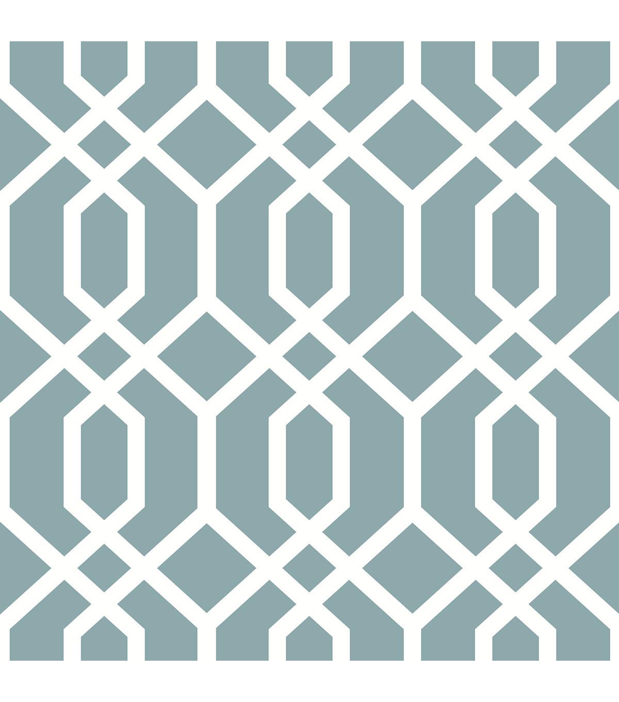 Wallpops Nuwallpaper Peel Stick Wallpaper Swatch 8x10 Blue Montauk Lattice Hemlock Joann