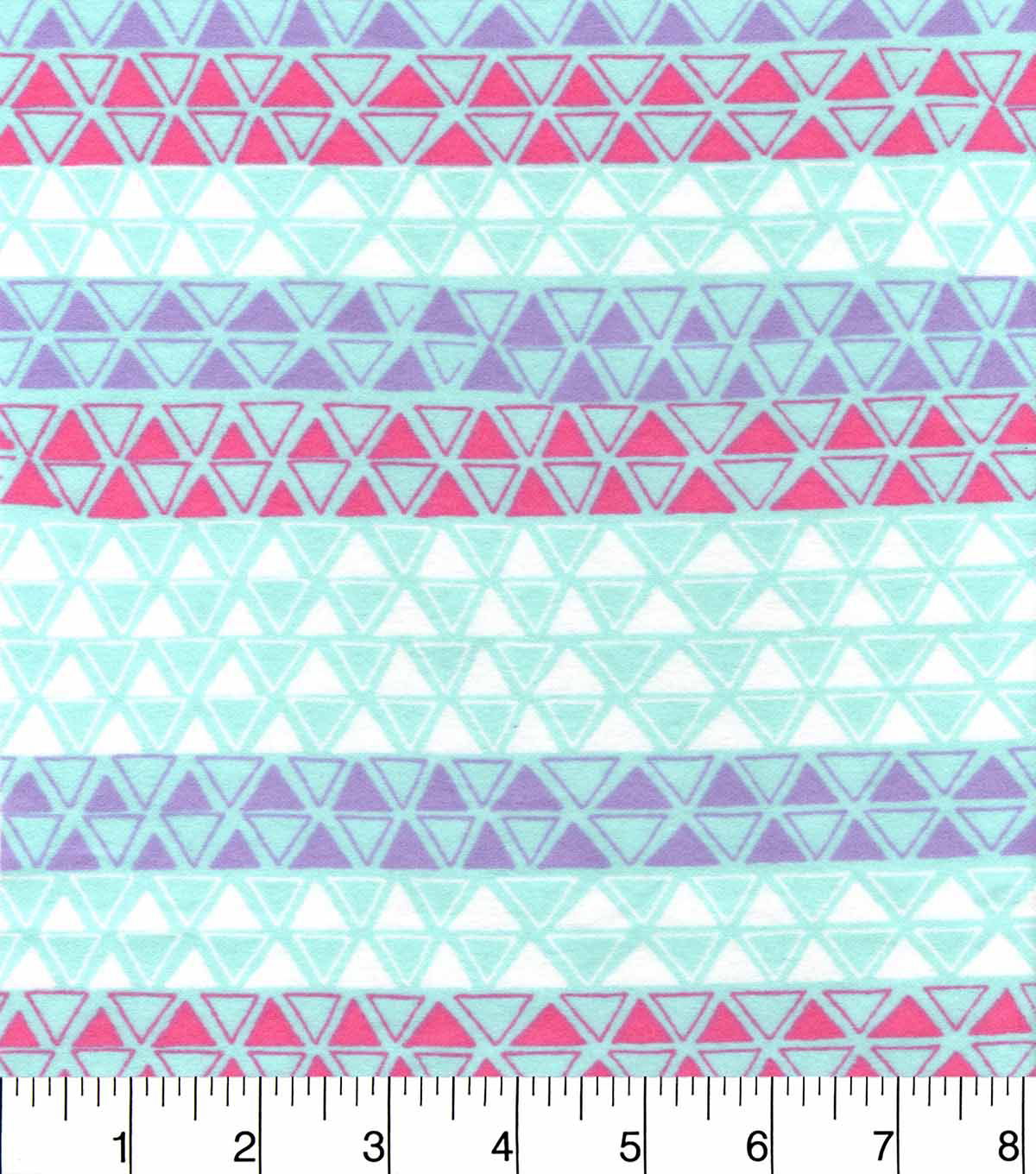 Snuggle Flannel Fabric 42\u0022-Beach Glass Triangles