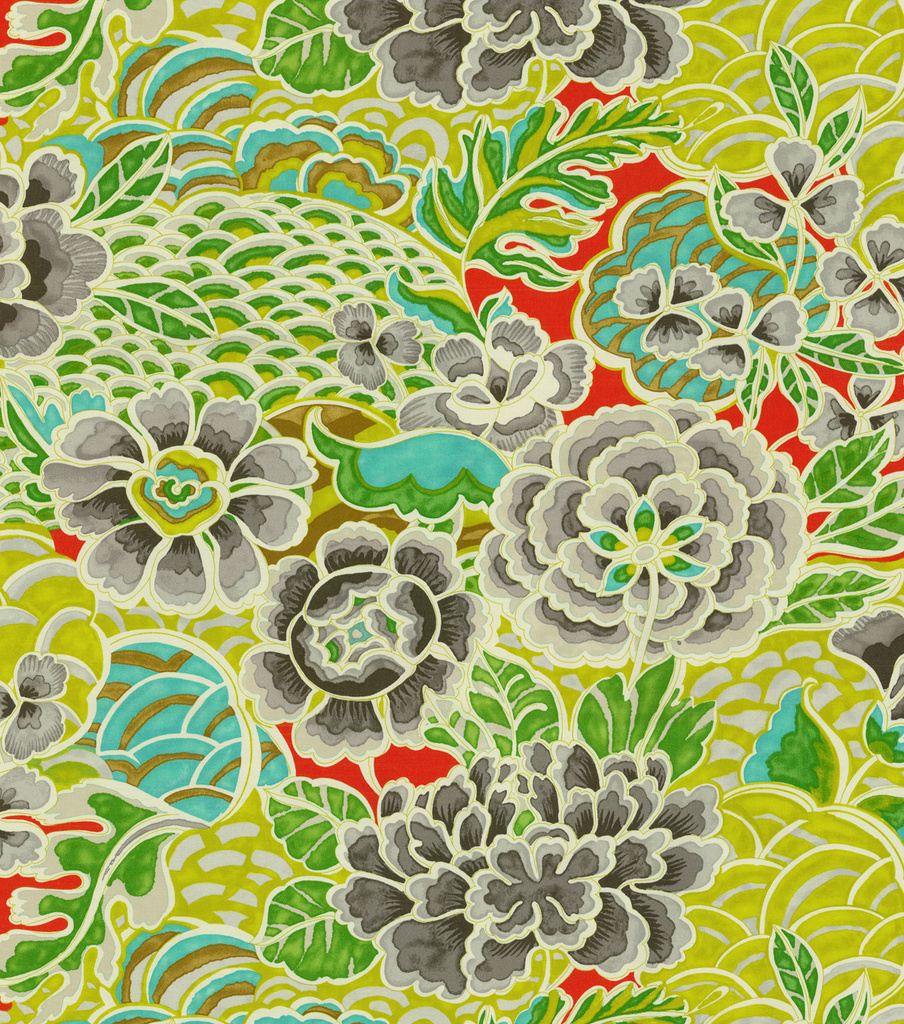 fabric garden. Waverly Lightweight Decor Fabric 54\\u0022-Zen Garden/Earl Grey Garden F