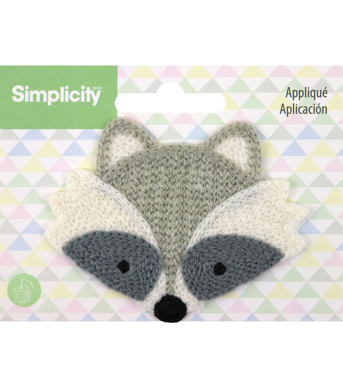 Simplicity Raccoon Baby Sew-on Applique-Gray & Black