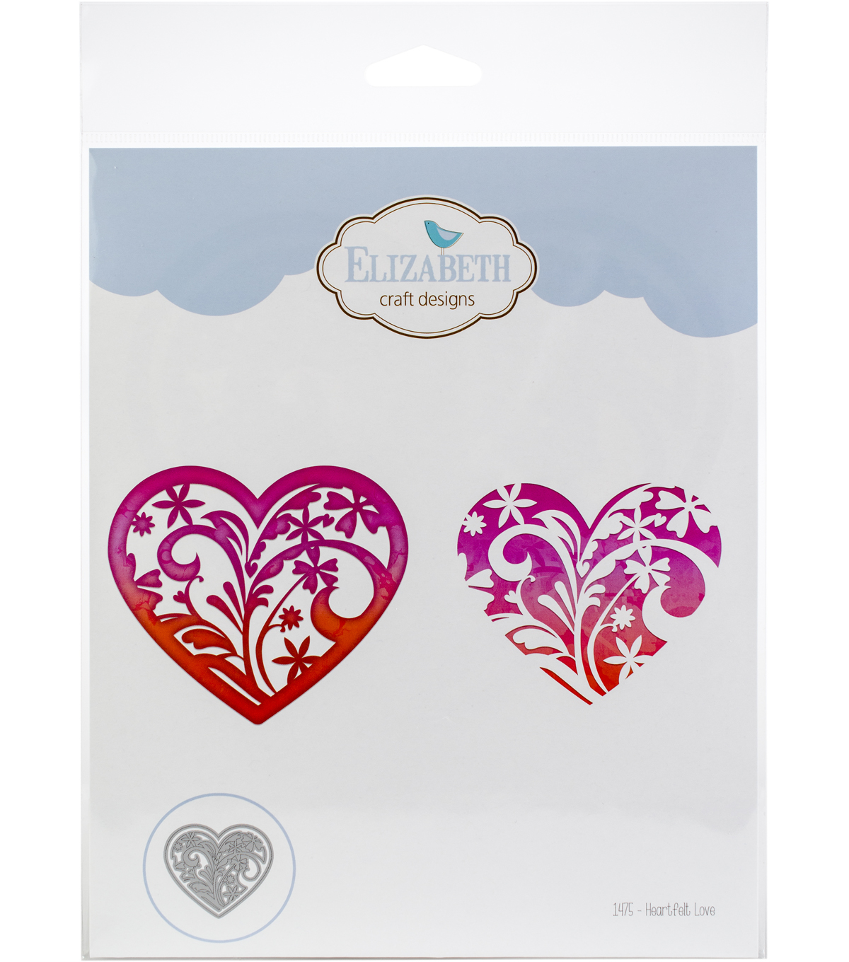 Elizabeth Craft Designs 2 pk Metal Dies-Heartfelt Love