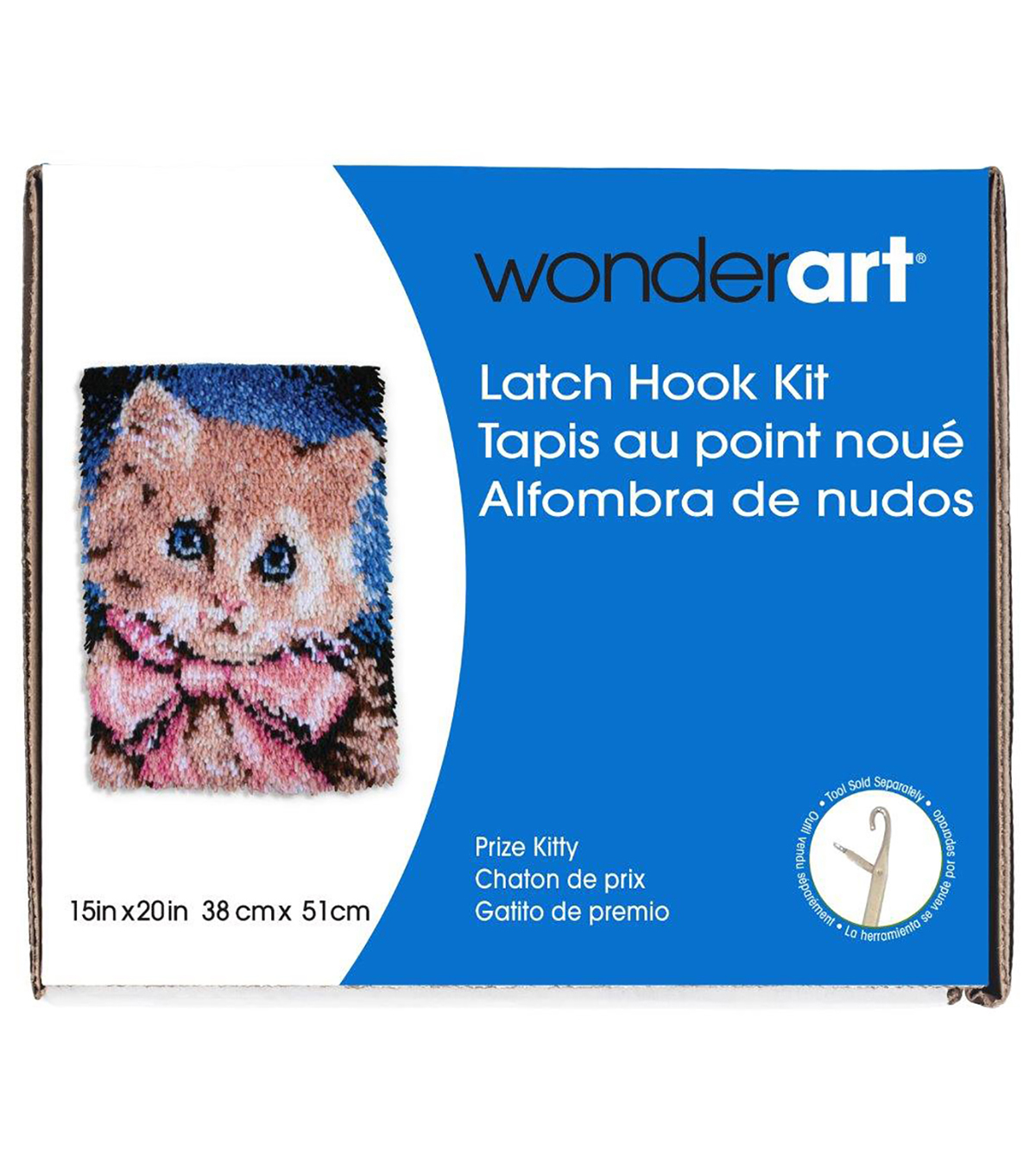 Wonderart Latch Hook Kit 15\u0022X20\u0022-Prize Kitty