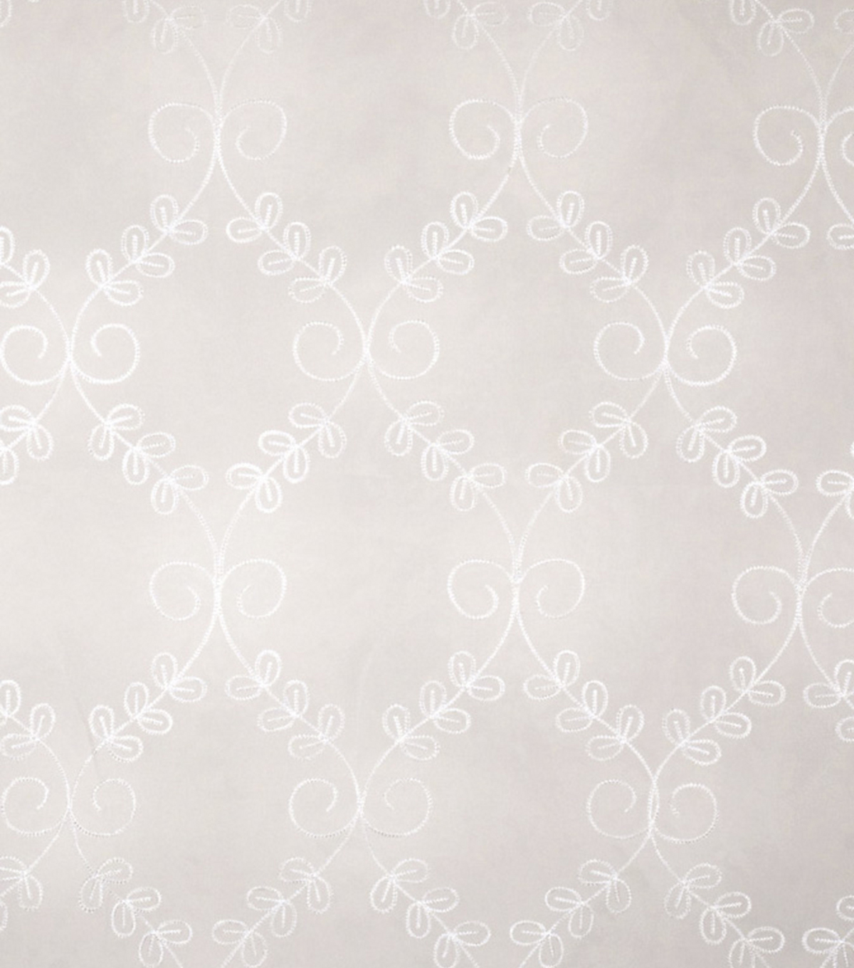 Home Decor 8\u0022x8\u0022 Fabric Swatch-Eaton Square Fifi   White
