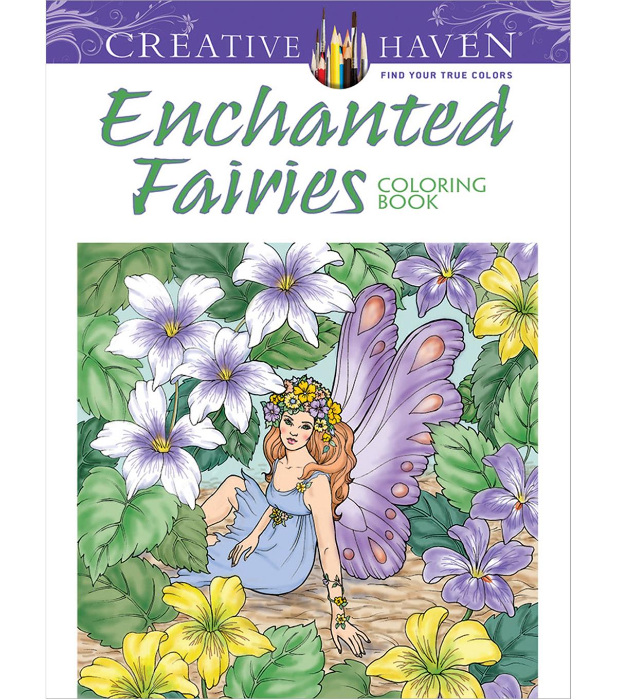 Dover Publications Creative Haven Enchanted Fairies Coloring Book ...