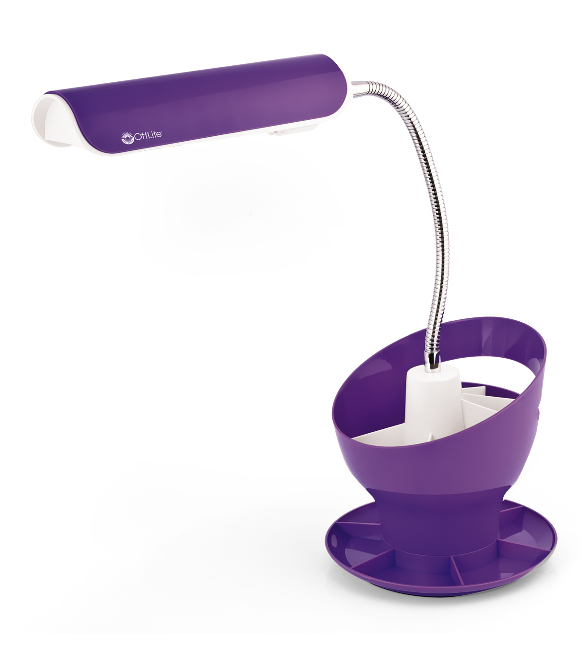 13w Craft Space Organizer Lamp Purple
