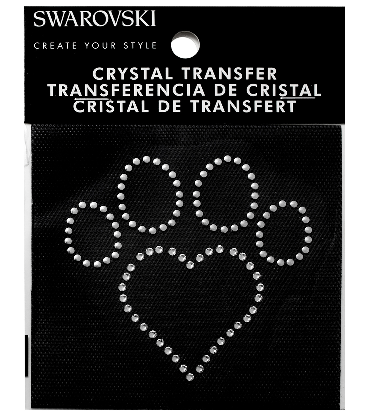 Swarovski Create Your Style Dog Paw Crystals Iron-on Transfer