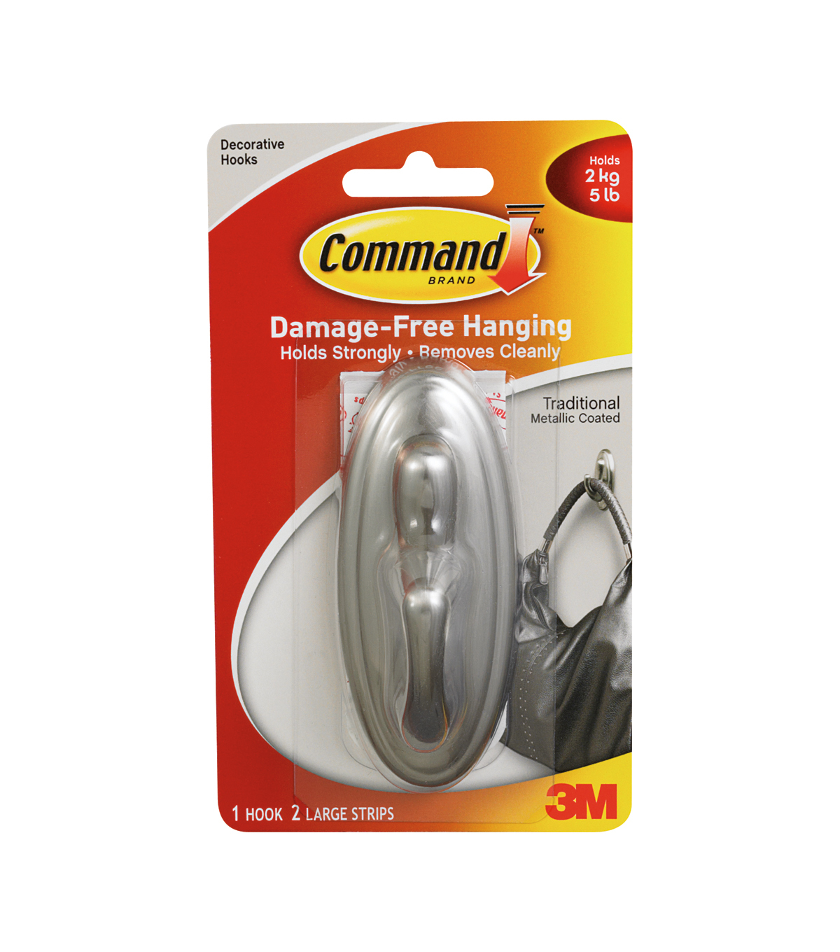 Command Brushed Nickle-Large
