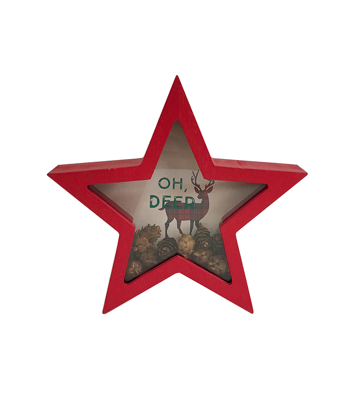Maker\u0027s Holiday Christmas Star Shaker Decor-Oh, Deer