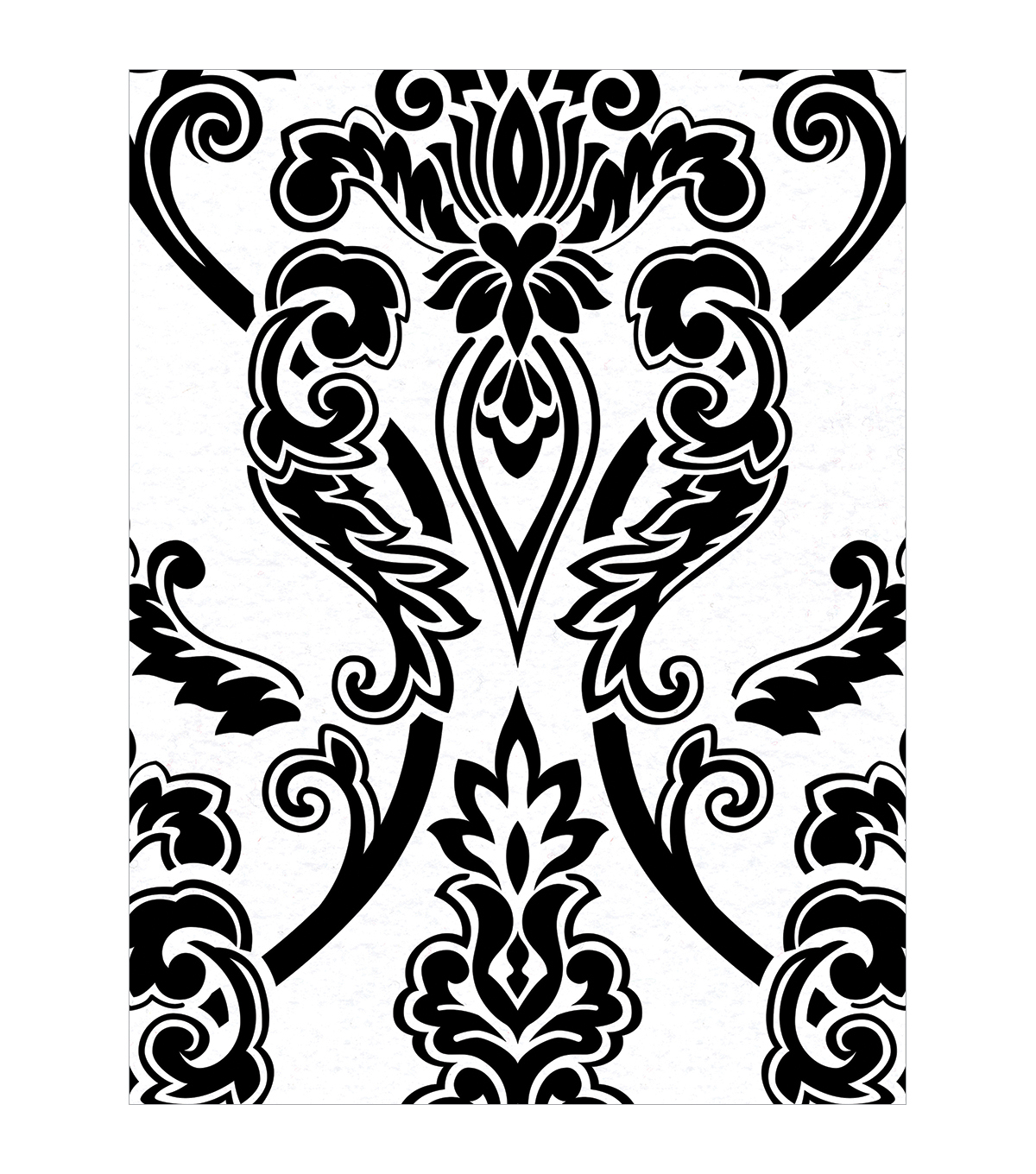 Fanci Felt 9\u0022X12\u0022 - Legacy - White W/Black Flock 24/pack