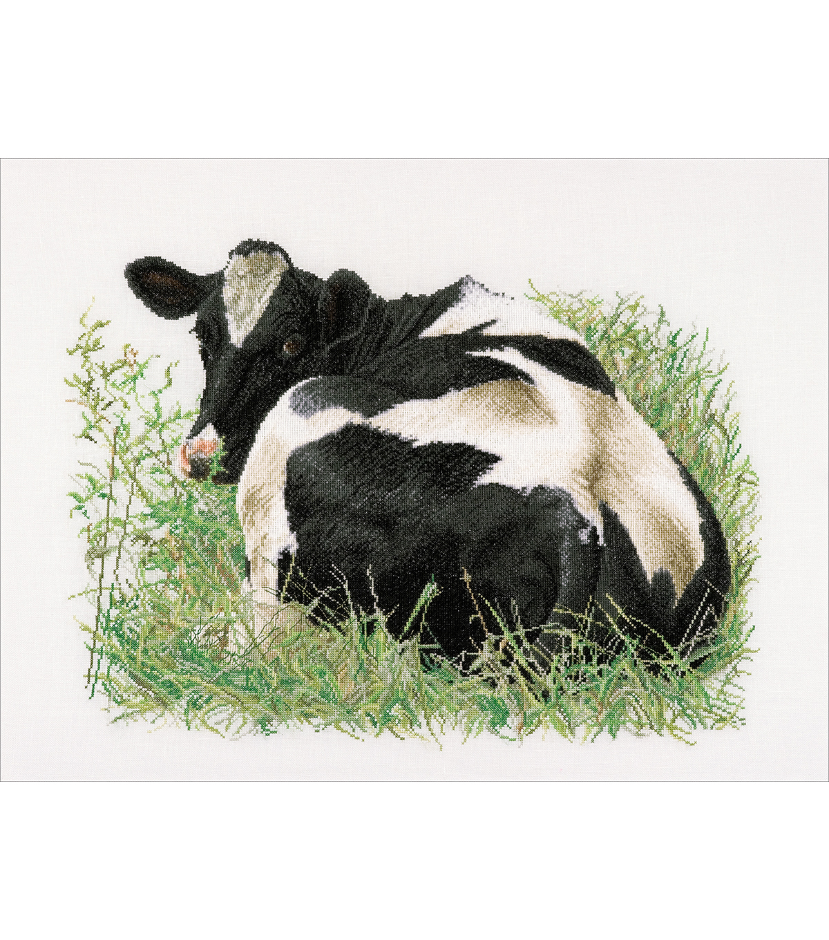 Thea Gouverneur Cow (Back) On Aida Counted Cross Stitch Kit