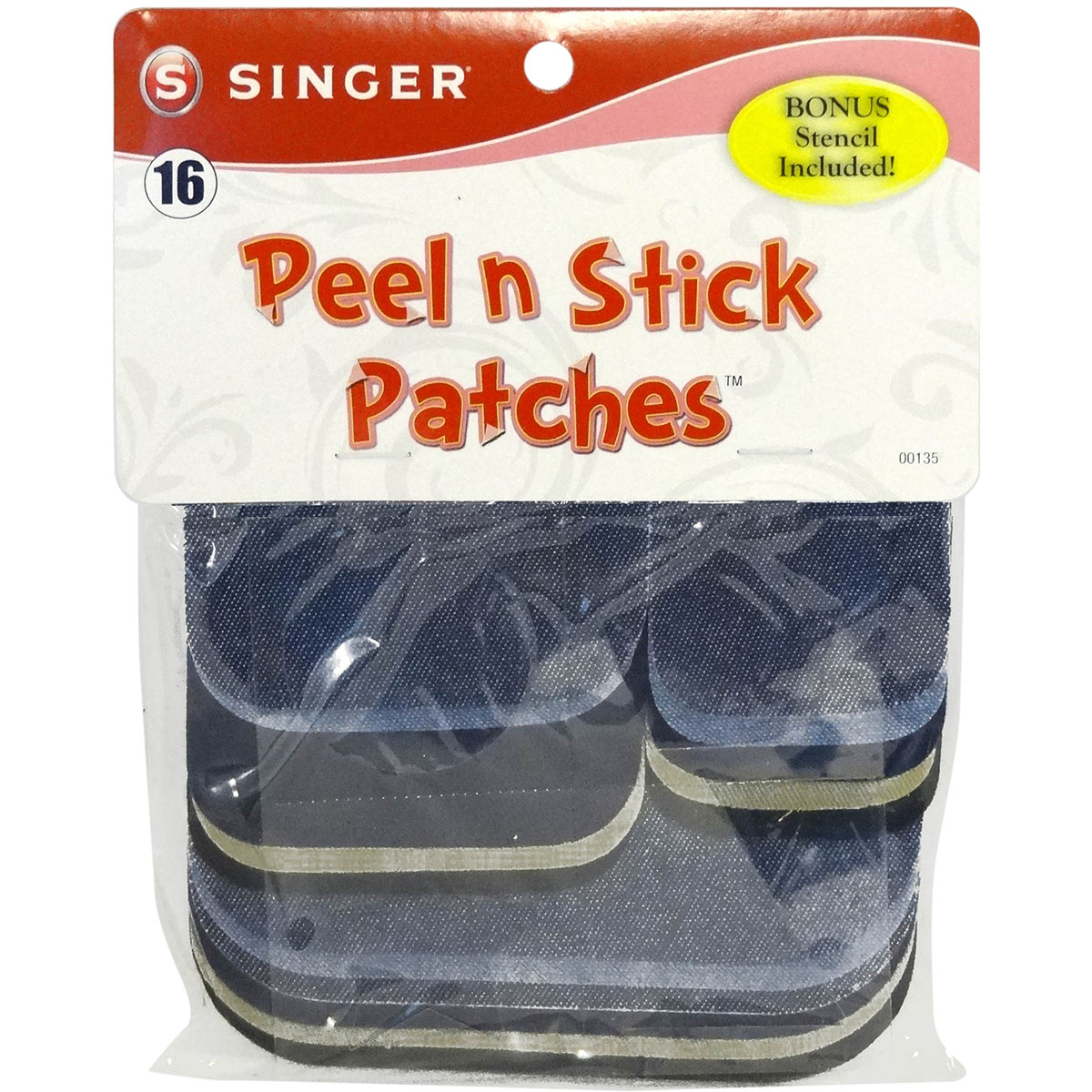 Peel N Stick Patches Assorted Sizes 18/Pkg-Assorted Denim & Twill