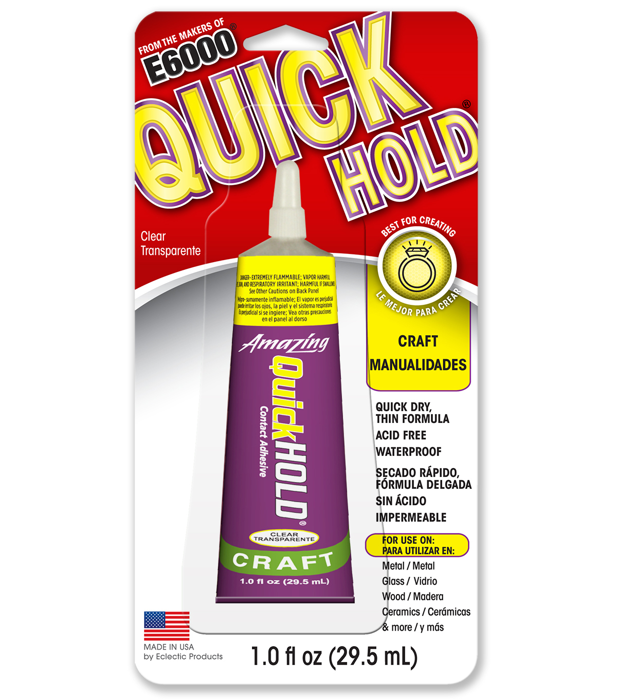 Eclectic Amazing Quick Hold Craft Adhesive