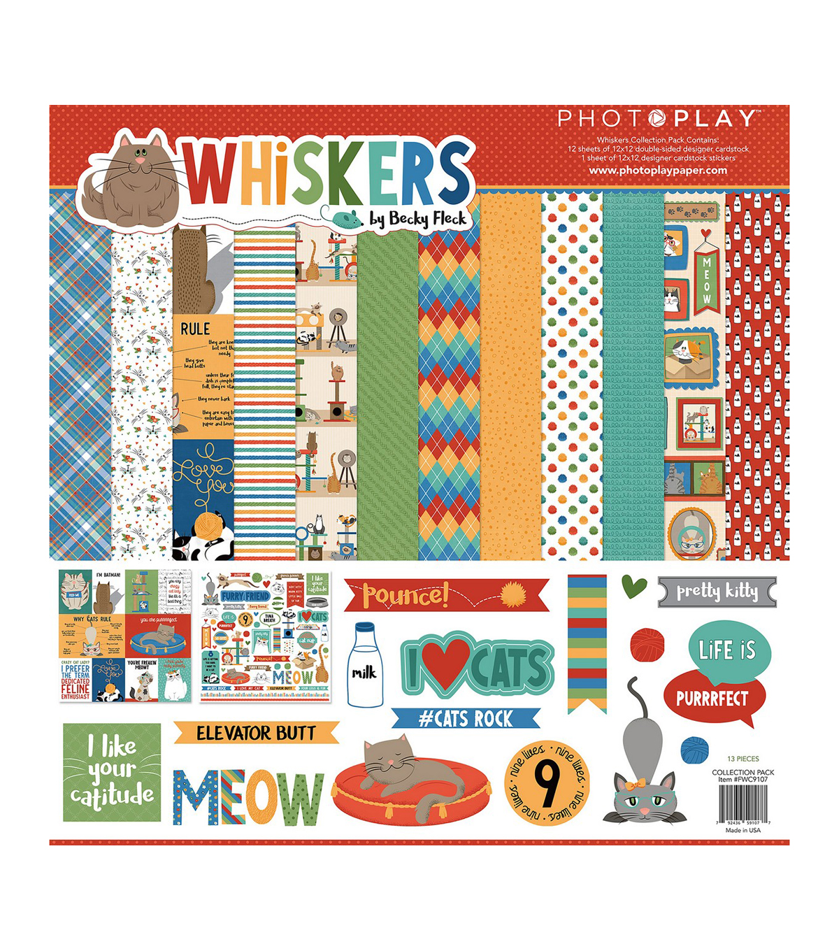 PhotoPlay Collection Pack 12\u0022X12\u0022-Whiskers